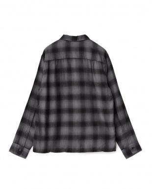 BLACK CHECK  オンブレチェックシャツ見る